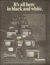 1971 Print Ad for Panasonic`Multiple style tiny TV's Photo. (112615)