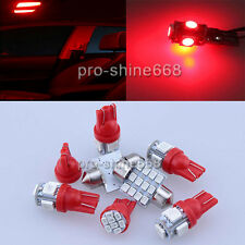 LED Interior Light Package MAP Kit Deal For 2006 - 2010 Hummer H3 9PCS RED PL