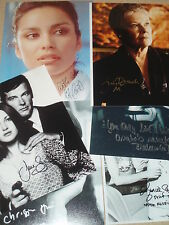 "Sean Connery,Roger Moore ""007 BOND GIRLS"".JANE SEYMOUR.JUDI DENCH.+4 "" 6Total"""
