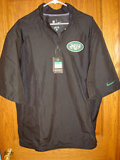 Nike NFL NEW YORK JETS  On Field Team Apparel Pullover 1/4 Zip Hot Jacket 4XL