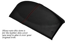 RED STITCH FITS LAND ROVER DEFENDER 07-13 SPEEDO GAUGE HOOD LEATHER COVER ONLY