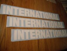 "THREE  28"" x 3.5"" INTERNATIONAL HARVESTER DECAL STICKER DIESEL TRUCK ANY COLOR"