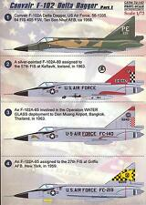 Print Scale Decals 1/72 CONVAIR F-102 DELTA DAGGER Jet Fighter Part 1