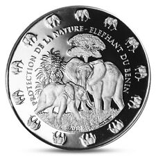 + SALE + BENIN 1000 FRANCS CFA ELEPHANT WITH BABY 1 OZ SILVER INVESTMENT 2016