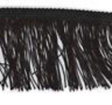 Black 75mm Cut Rayon Fringe, Sash Fringe, Fringing