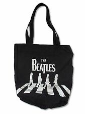 The Beatles Abbey Road Heavy Duty Black Tote Bag New Official Shopping Bag Music