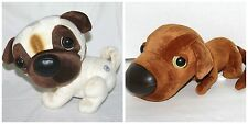 Lot of 2 THE DOG Artlist Collection w Sound Barkin Friends Stuffed Plush Animal