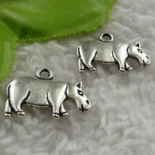 free ship 86 pcs tibet silver cattle charms 21x15mm #4090