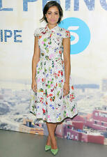 '14 ICONIC SENSATIONAL GORGE 2DIE4 OSCAR DE LA RENTA floral and polka dots dress