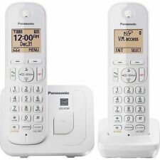 PANASONIC KX-TGC212W DECT 6.0 with 2-Handsets Cordless Phone - White