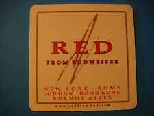 BEER COASTER: BUDWEISER Red Made For Establishements in London, Rome, Hong Kong+
