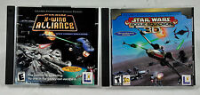 TWO (2) Star Wars PC Games - Star Wars X-Wing Alliance and Rogue Squadron 3D
