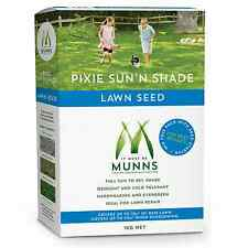 Munns 1kg PIXIE SUN N SHADE Lawn Seed Hard Wearing for Over Sow and Lawn Repair