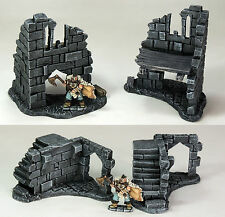 FROSTGRAVE (suited) - 'RUINED CORNERS PACK' - PRE PAINTED - FANTASY TERRAIN