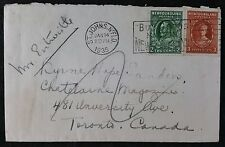 "1935 2 & 3 cent Cover with ""Buy Goods Made in Newfoundland"" Slogan Cancel"