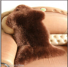 Genuine Australian Single One Pelt Sheepskin Brown 2x3 SOFT Lambskin Fur Rug