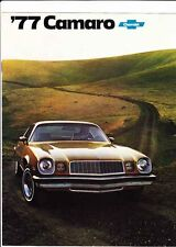 1977 CHEVROLET CAMARO US Brochure Includes Z28 and Rally Sport Option