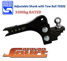 NEW Hayman Reese Adjustable Ball Mount 3500kg tow bar shank 200mm range 70202