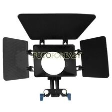 Matte Box Sunshade for 15mm rod support follow focus DSLR 5DII 60D D90 550D 600D