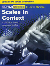 Guitar Springboard Scales In Context Learn to Play Beginner lesson Music Book