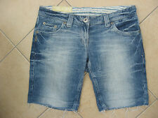 RIVER ISLAND Capri Cropped Jeans Shorts Boyfriend Frayed Size 10