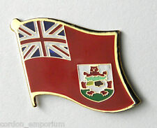 BERMUDA NATIONAL COUNTRY WORLD FLAG LAPEL PIN BADGE 3/4 INCH
