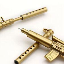 Gold-Gewehr Form Schwarz Tinte Kugelschreiber Stationery Office Kreative KAKI