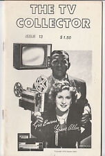 The TV Collector #13 May/June 1978 Vintage Fanzine George Burns