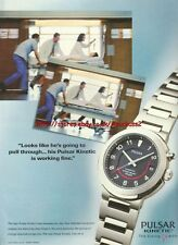 "Pulsar Kinetic ""The Living Watch"" 1999 Magazine Advert #214"