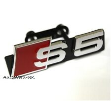 New S5 Grill Badge Emblem Decal Logo Sticker Sign S A5 RS5 RS Audi Front Grille