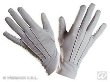Pair Of Adult Short Grey Gloves - Fancy Dress Costume Accessory