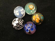 1SA HOM Glass Marbles collectable 16mm 5 x Beautiful Handmade marbles 1 of each