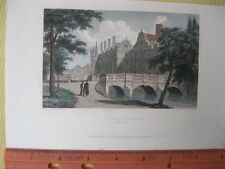 Vintage Print,ST.JOHNS COLLEGE,Cambridge,1829