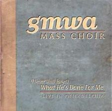 Gmwa Mass Choir: What He's Done for Me: Live in Philadelphia  Audio Cassette