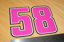 Simoncelli Number 58 Decal - Large (Pink)