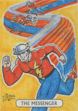 DC Comics Justice League Tarot Sketch Card by Diego Mendes of Golden Age Flash
