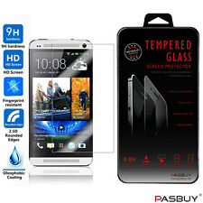 Premium Clear Real Tempered Glass Screen Protector Film Guard for HTC One M7