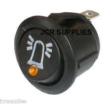 ON-OFF SWITCH AMBER LED DOT ILLUMINATED WITH BEACON SYMBOL 12-24 VOLT 053118