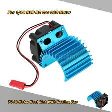 7016 Motor Heat Sink With Cooling Fan for 1/16 HSP RC Car 380 Motor Blue X72Z
