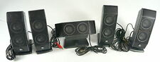 Logitech 5-speaker set satellite surround sound 491345-0000 491348-0000 TESTED