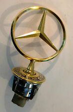 24ct GOLD PLATED MERCEDES BENZ BONNET HOOD STAR BADGE EMBLEM E S CLASS 24K