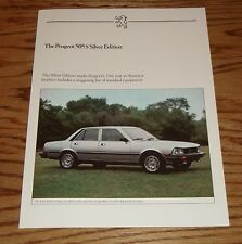Original 1983 Peugeot 505 S Silver Edition Sales Sheet Brochure 83