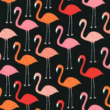 "ROBERT KAUFMAN ""URBAN ZOOLOGIE"" FLAMINGO Black by yard"