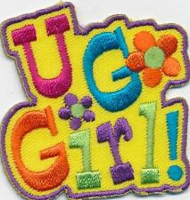 Girl U GO GIRL! Empowerment Fun Patches Crests Badges SCOUT GUIDE Yellow You