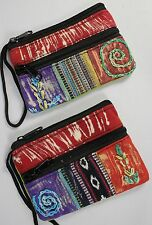 HANDMADE ZIPPER COIN PURSE Hobo Makeup Bag Clutch NEW Fabric Art Craft Assorted