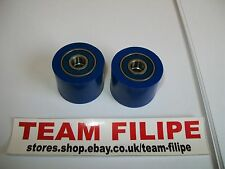 Yamaha YZ 465 81 1981   Chain Roller Set Rollers Upper + Lower Chainroller Blue