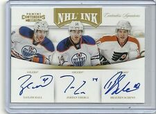 2011-12 Contenders NHL Ink TRIOS Gold Auto TAYLOR HALL  Eberle  Schenn #1/10