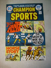 CHAMPION SPORTS #3 COVER ART, original approval cover proof 1970'S HORSES HICKOK