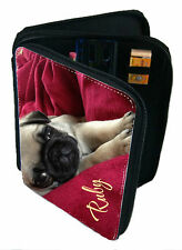 Personalised Girl's School Pencil Case Including all Contents add a Name Pug Dog