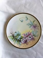 """Vintage Plate Hand Painted Vienna China w/ gold rim 8"""""""